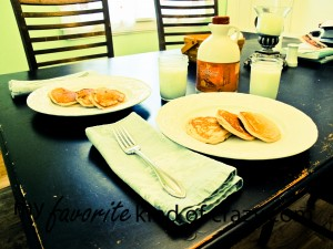 Menu Plan: Gluten Free Pancakes, Breakfast Table