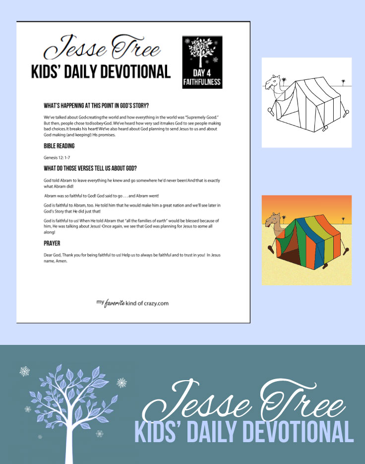 Kids Daily Devotional Jesse Tree Day 4 Advent