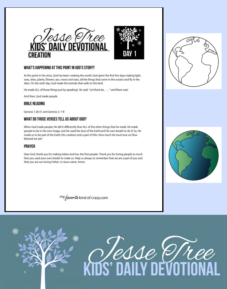 Kids Daily Devotional Jesse Tree