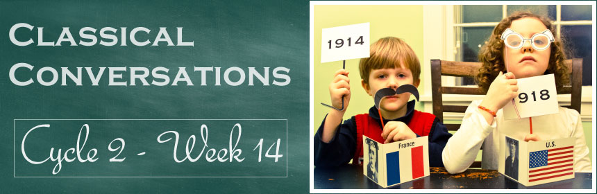 Classical Conversations Cycle 2 Week 14 teaching World War I history. CUTE dress up kit!