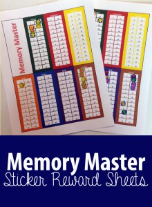 Awesome and Simple Memory Master Sticker Sheets! Great way for kids to see how they're doing!
